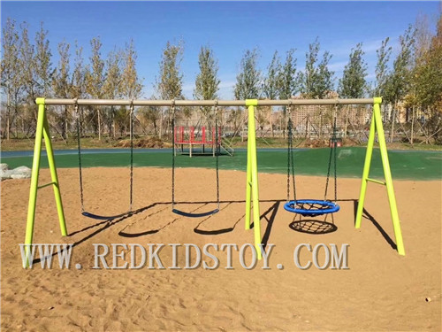Eu Standard Children Outdoor Swing Heavy Duty Park Swing For Kids