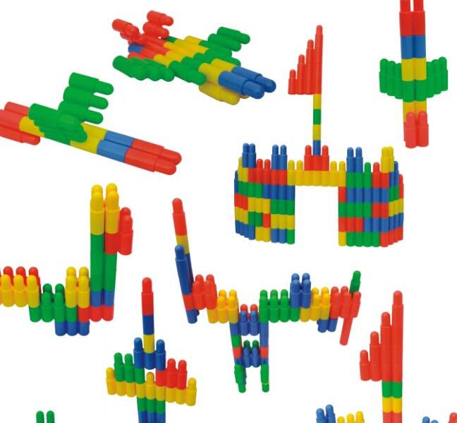 环保塑料桌面玩具-子弹头积木